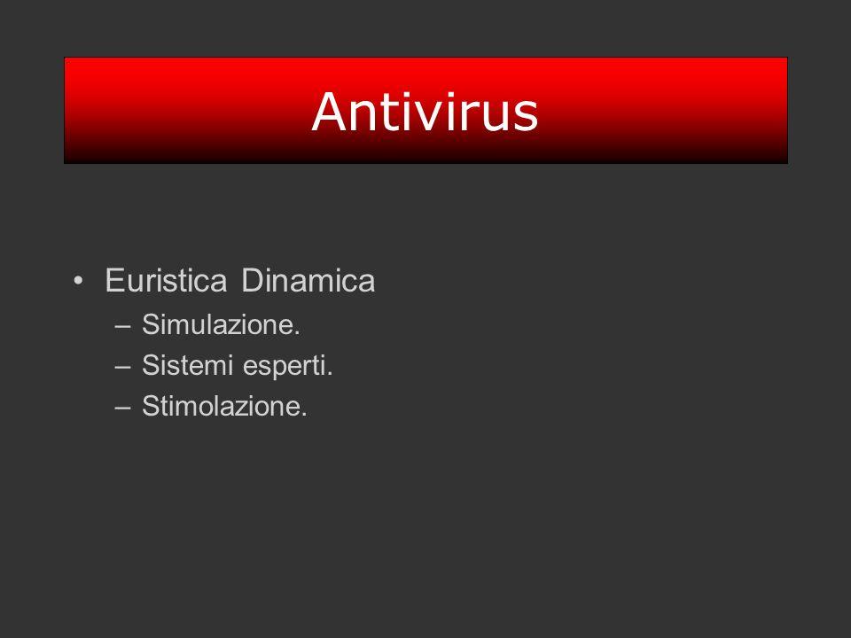 Antivirus Euristica Dinamica Simulazione. Sistemi esperti.