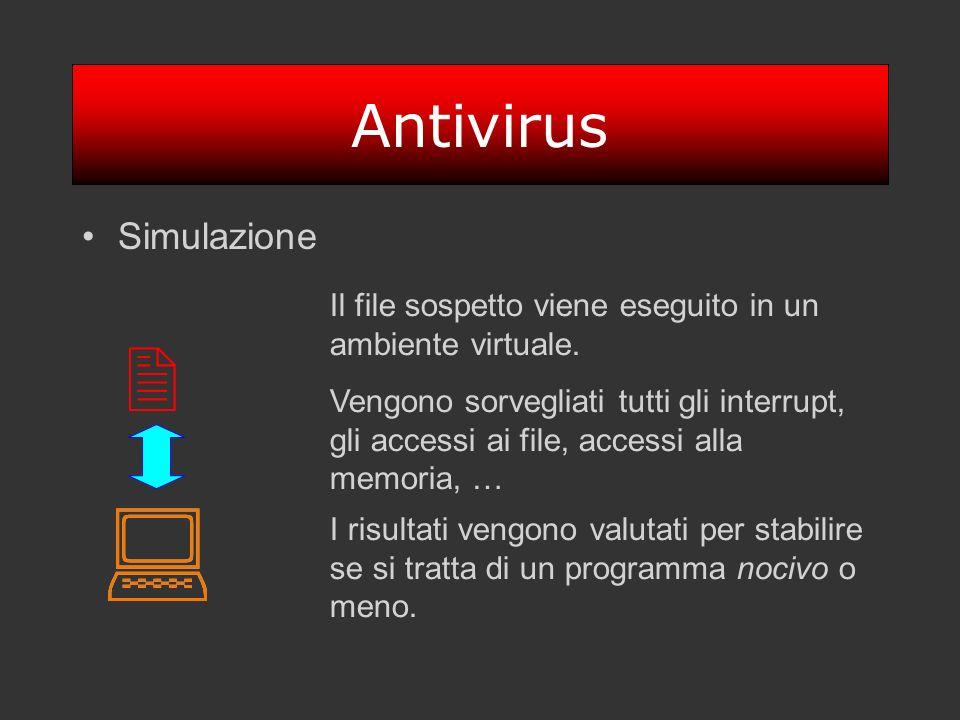 : : 2 Antivirus Simulazione