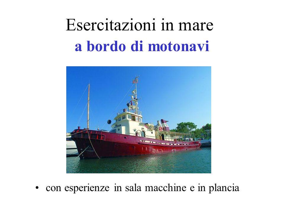 Esercitazioni in mare a bordo di motonavi