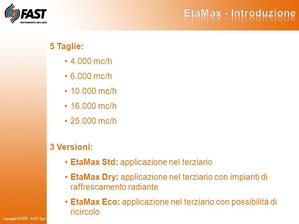 EtaMax - Introduzione 5 Taglie: 4.000 mc/h 6.000 mc/h 10.000 mc/h