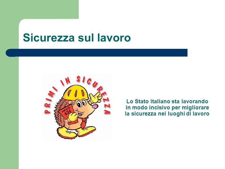 Sicurezza sul lavoro Lo Stato italiano sta lavorando in modo incisivo per migliorare la sicurezza nei luoghi di lavoro.