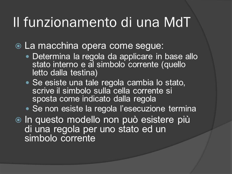 Il funzionamento di una MdT