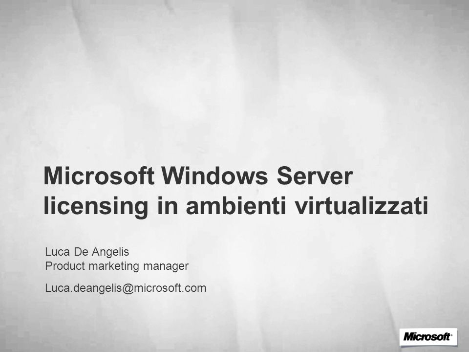 Microsoft Windows Server licensing in ambienti virtualizzati