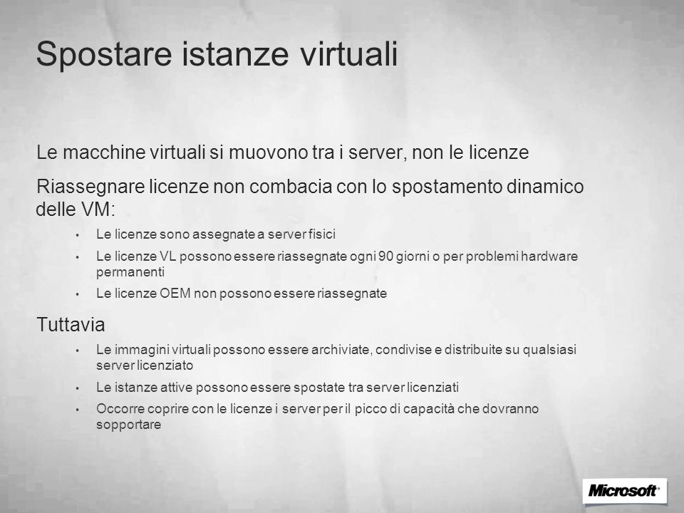 Spostare istanze virtuali