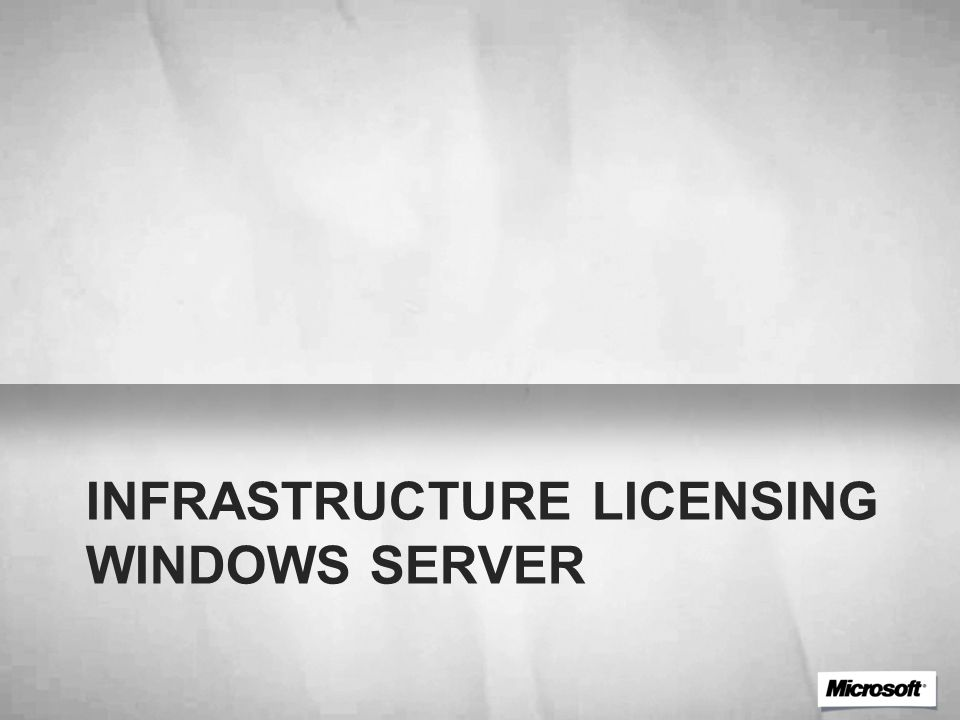 Infrastructure licensing Windows Server
