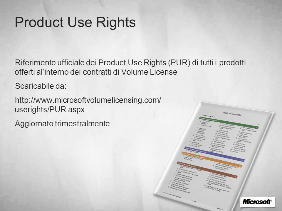 Product Use Rights