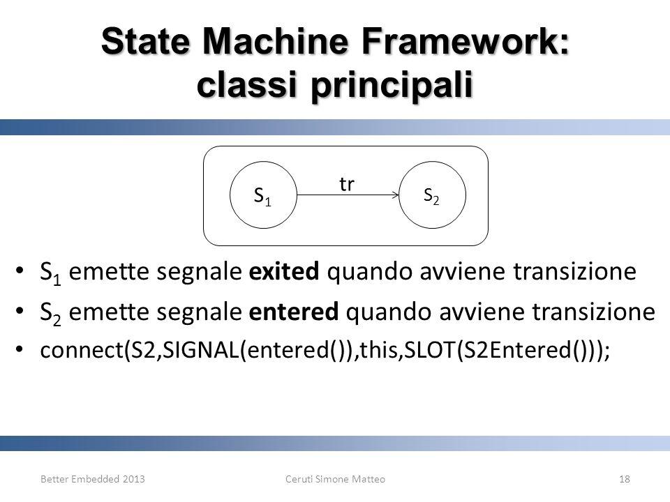 State Machine Framework: classi principali