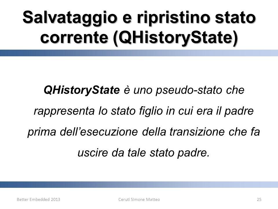 Salvataggio e ripristino stato corrente (QHistoryState)