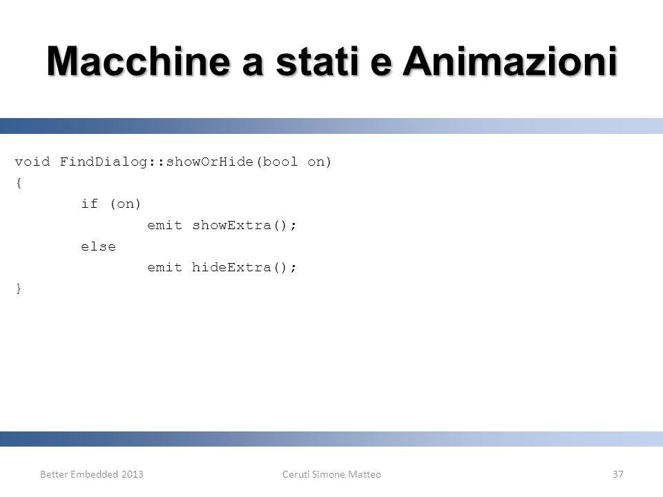 Macchine a stati e Animazioni
