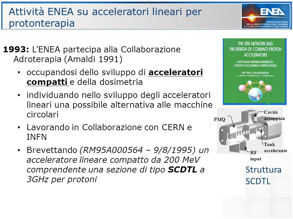 Attività ENEA su acceleratori lineari per protonterapia