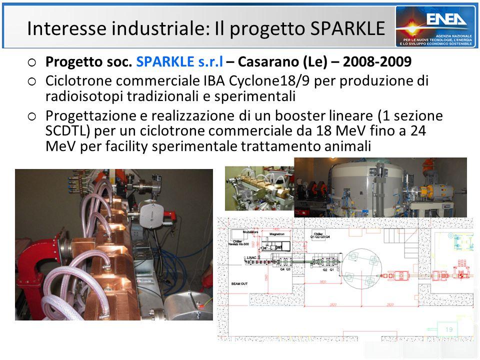 Interesse industriale: Il progetto SPARKLE