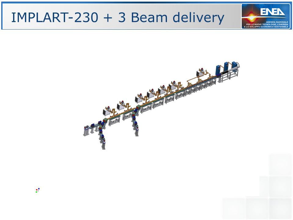 IMPLART-230 + 3 Beam delivery