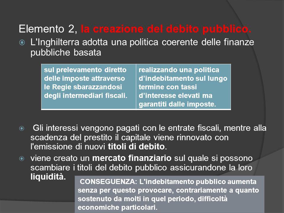 Elemento 2, la creazione del debito pubblico.