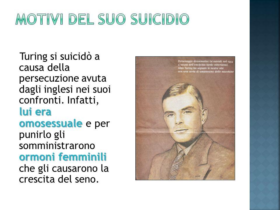 MOTIVI DEL SUO SUICIDIO