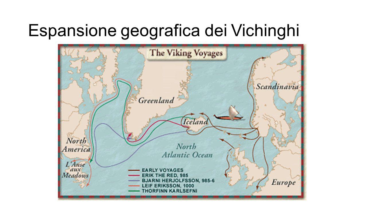 Espansione geografica dei Vichinghi