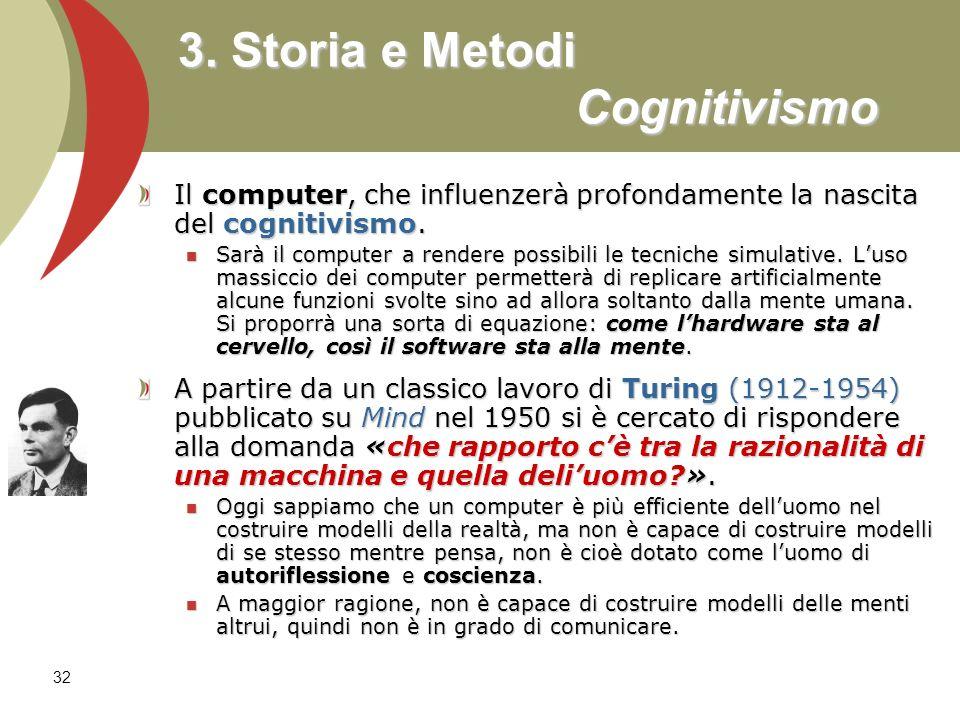 3. Storia e Metodi Cognitivismo