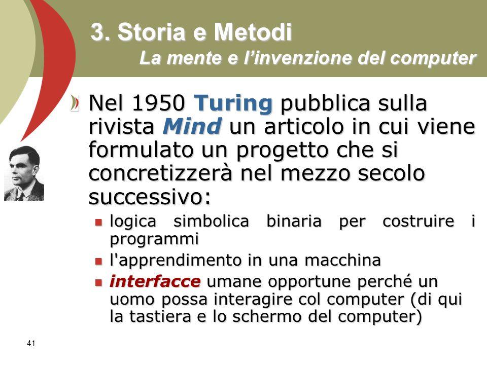 3. Storia e Metodi La mente e l'invenzione del computer