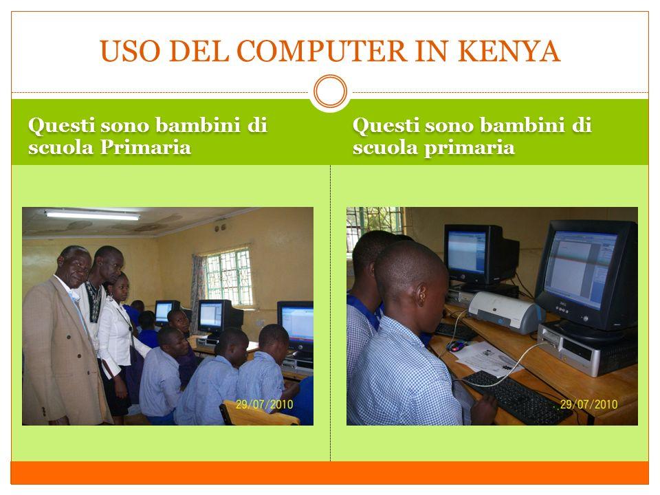 USO DEL COMPUTER IN KENYA