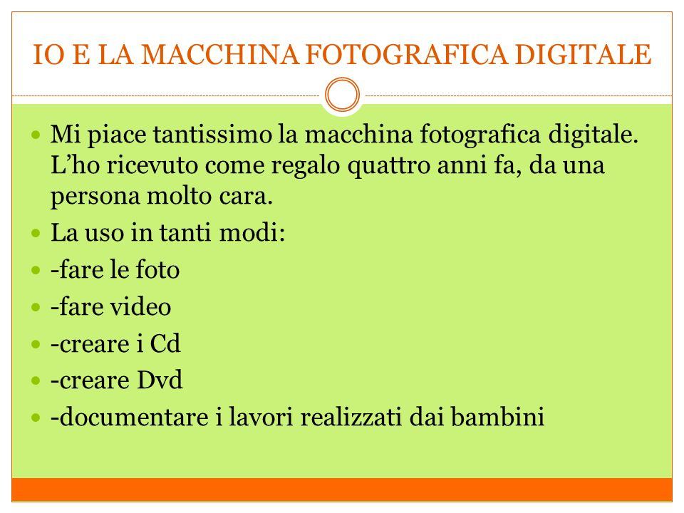 IO E LA MACCHINA FOTOGRAFICA DIGITALE