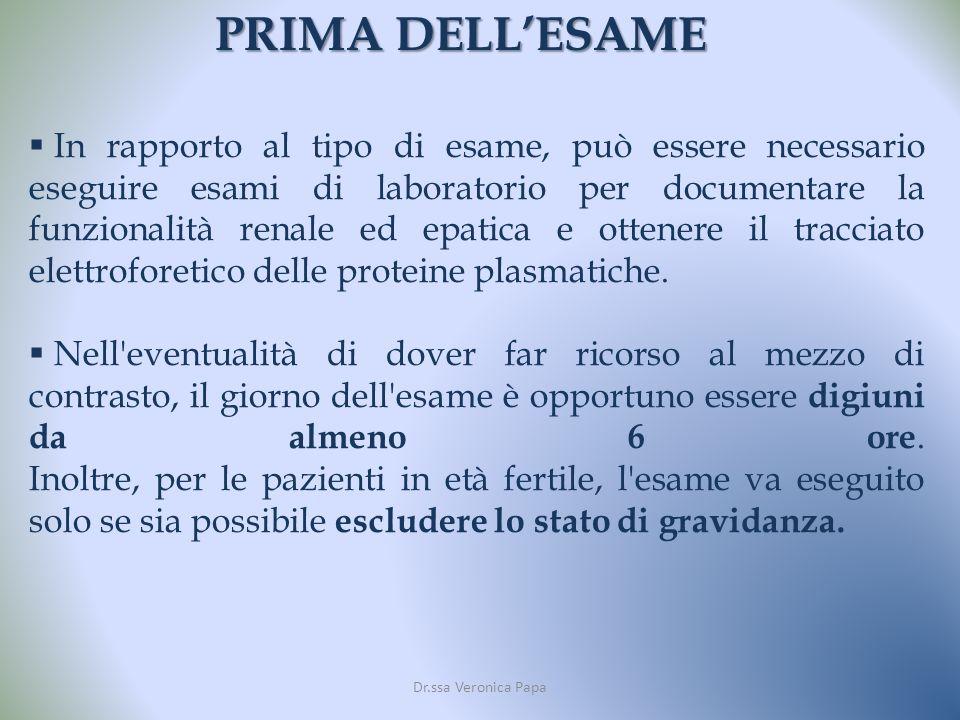 PRIMA DELL'ESAME