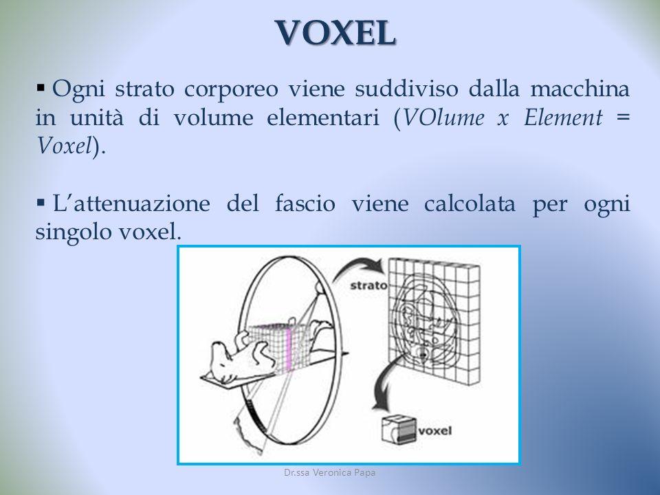 VOXEL Ogni strato corporeo viene suddiviso dalla macchina in unità di volume elementari (VOlume x Element = Voxel).