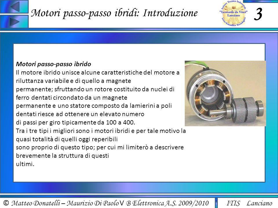 Motori passo-passo ibridi: Introduzione