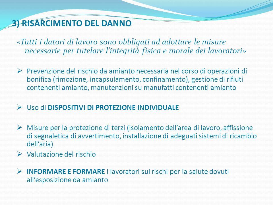3) RISARCIMENTO DEL DANNO