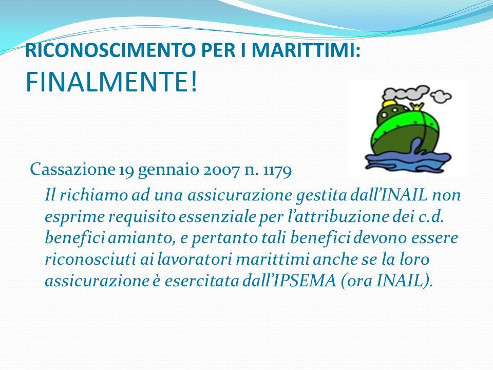 RICONOSCIMENTO PER I MARITTIMI: FINALMENTE!