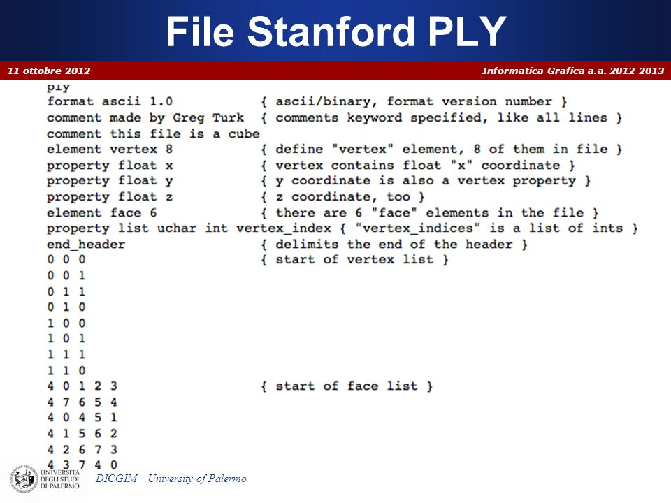 File Stanford PLY 11 ottobre 2012