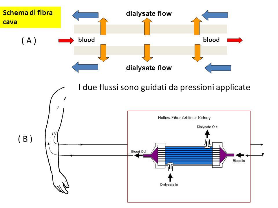 I due flussi sono guidati da pressioni applicate