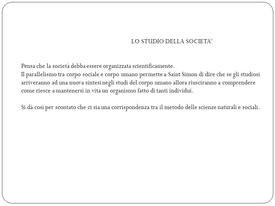 LO STUDIO DELLA SOCIETA'