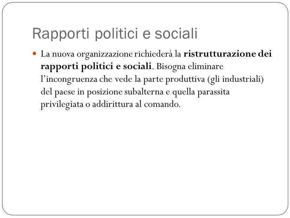 Rapporti politici e sociali