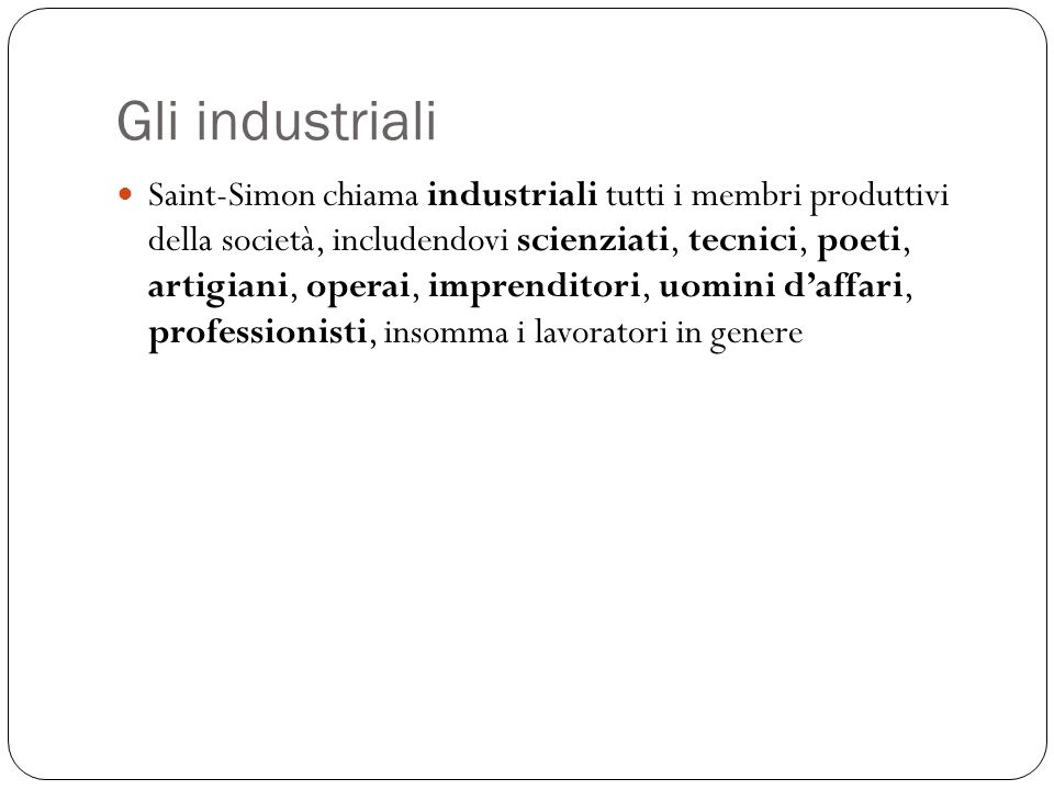Gli industriali
