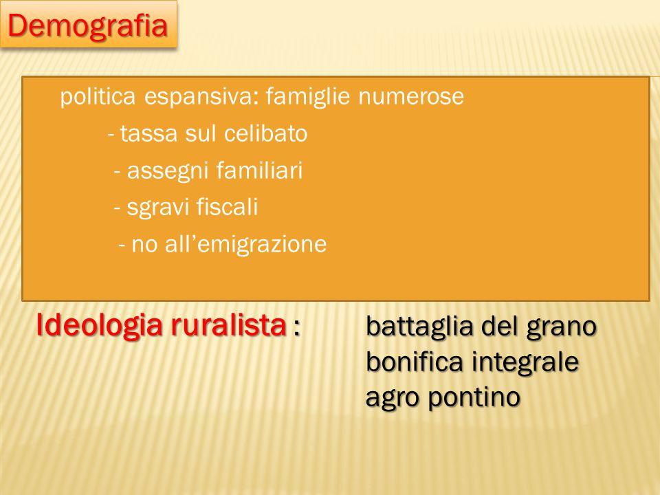 Ideologia ruralista : battaglia del grano
