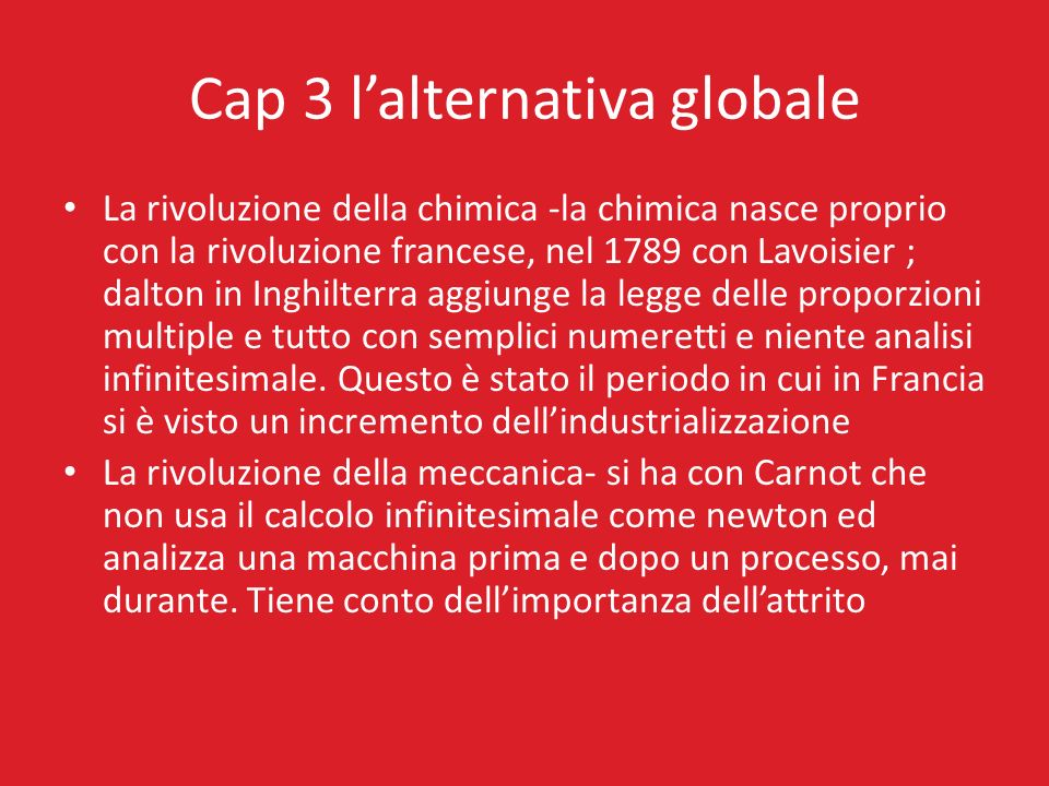 Cap 3 l'alternativa globale