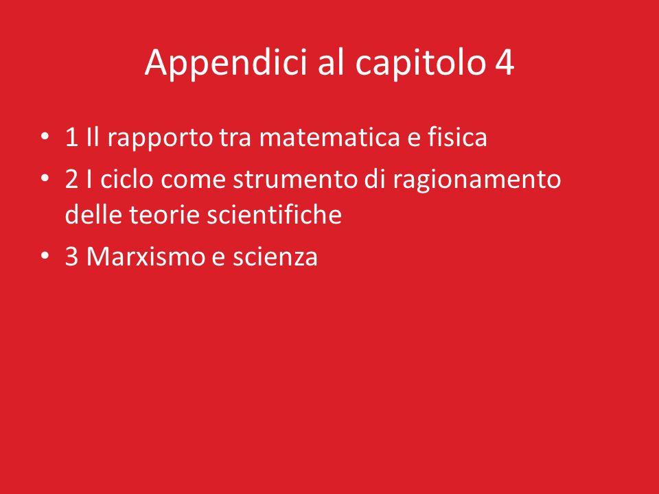 Appendici al capitolo 4 1 Il rapporto tra matematica e fisica