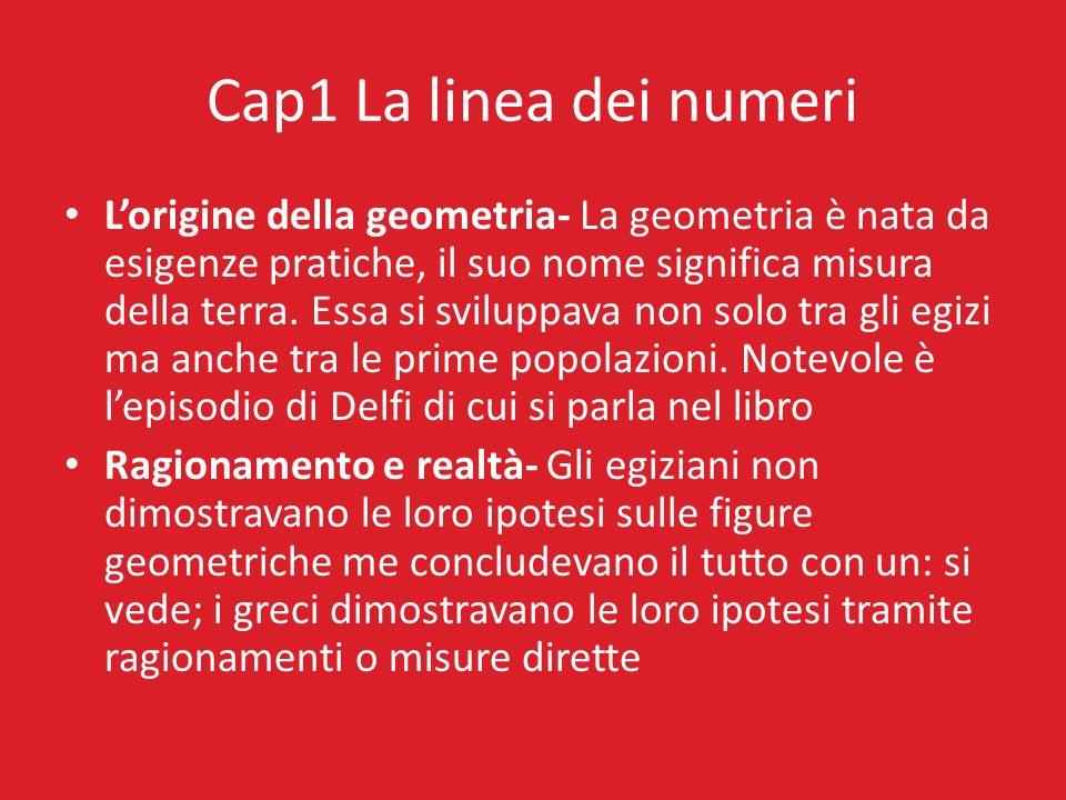 Cap1 La linea dei numeri