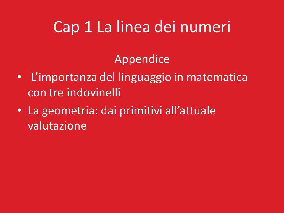 Cap 1 La linea dei numeri Appendice