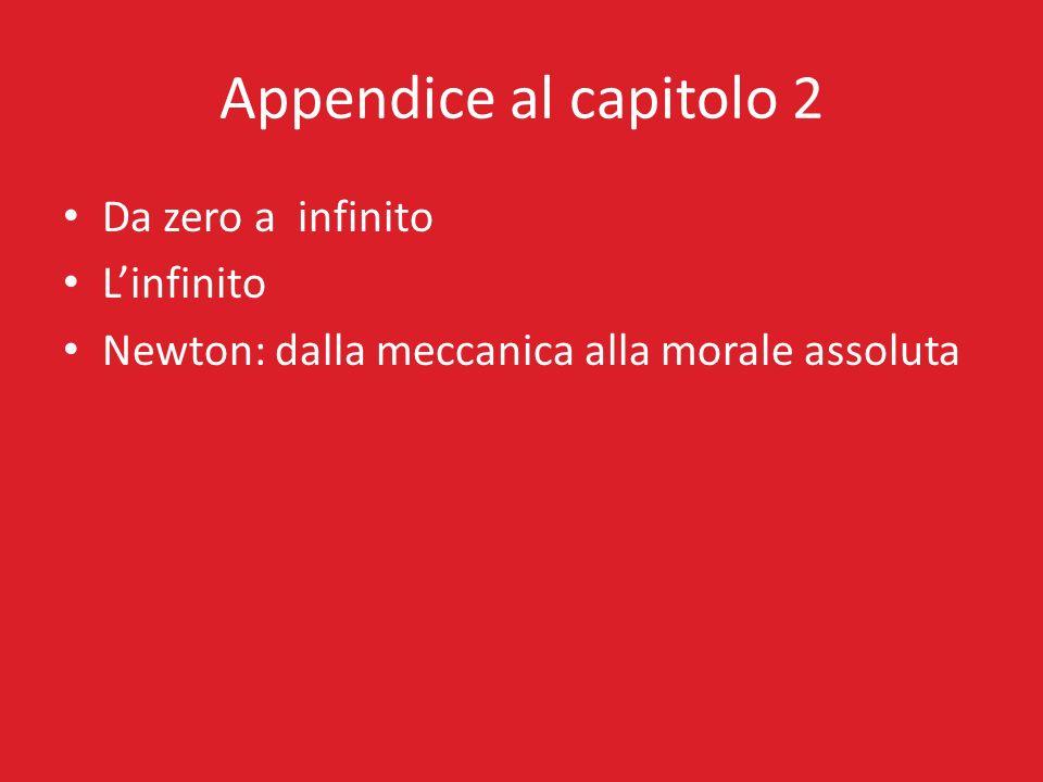 Appendice al capitolo 2 Da zero a infinito L'infinito