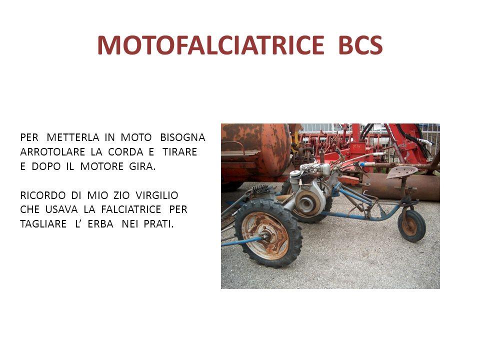 MOTOFALCIATRICE BCS PER METTERLA IN MOTO BISOGNA