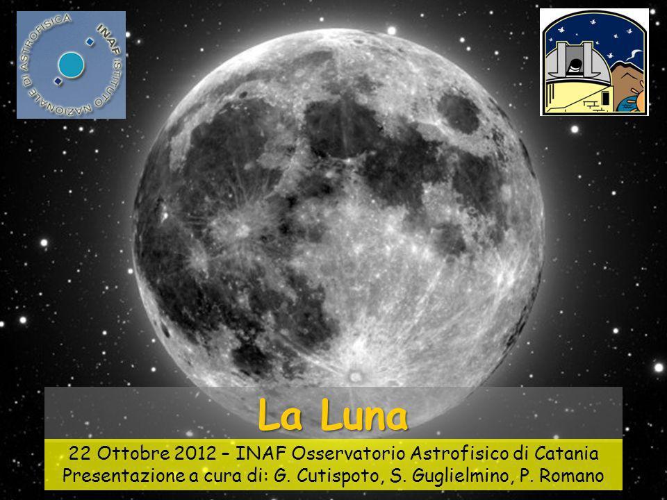 La Luna La Luna. 22 Ottobre 2012 – INAF Osservatorio Astrofisico di Catania.