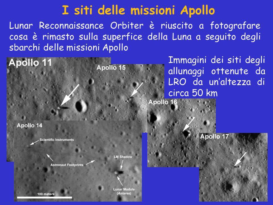 I siti delle missioni Apollo