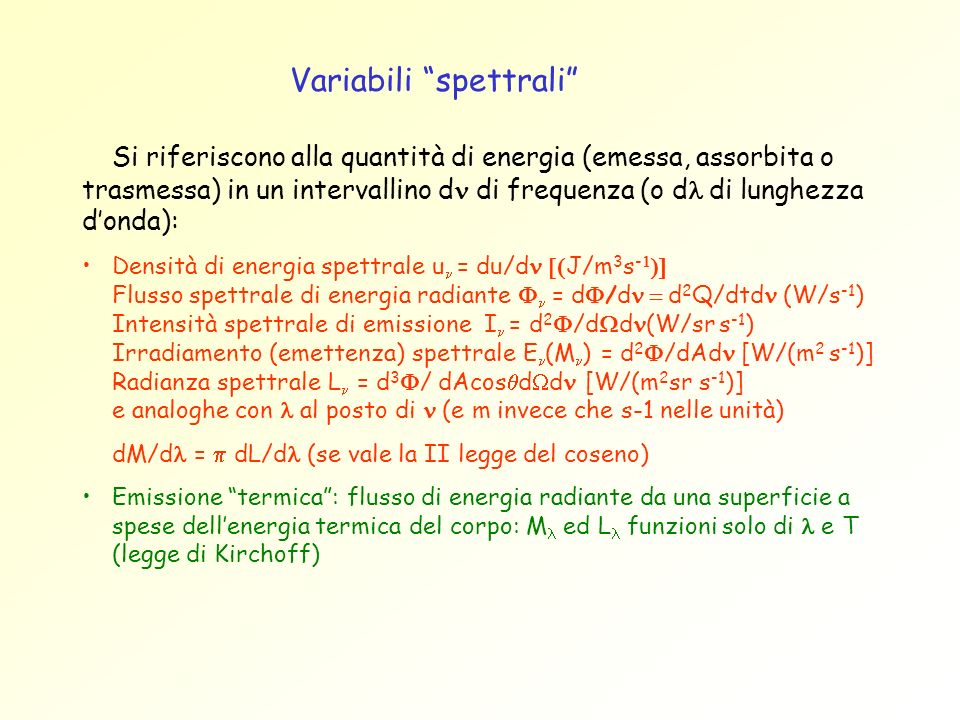 Variabili spettrali