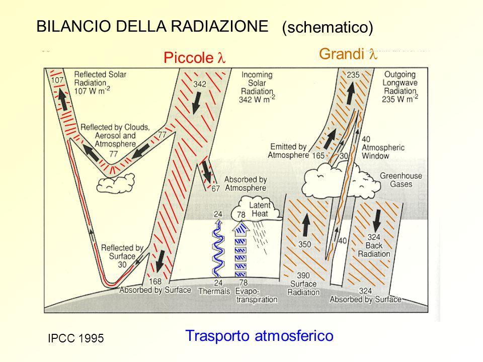 BILANCIO DELLA RADIAZIONE (schematico)