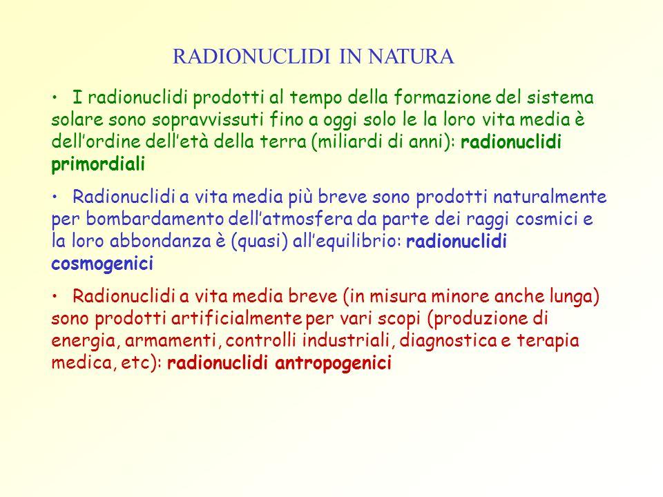 RADIONUCLIDI IN NATURA