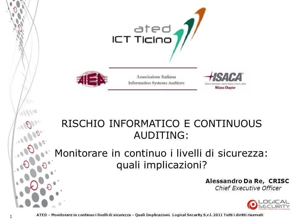RISCHIO INFORMATICO E CONTINUOUS AUDITING: