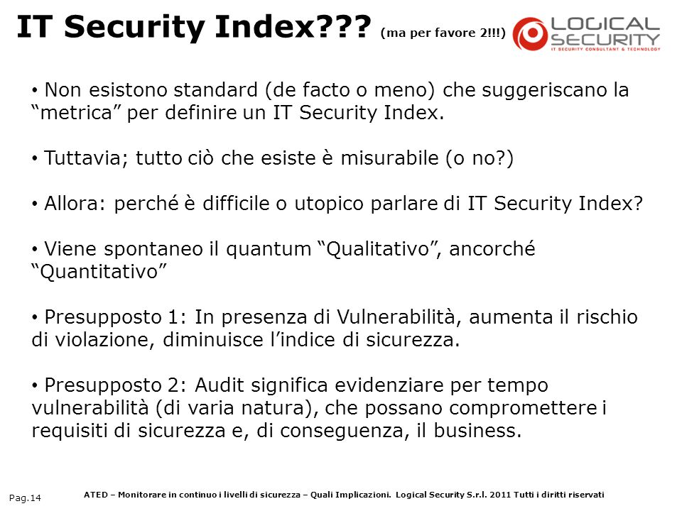 IT Security Index (ma per favore 2!!!)