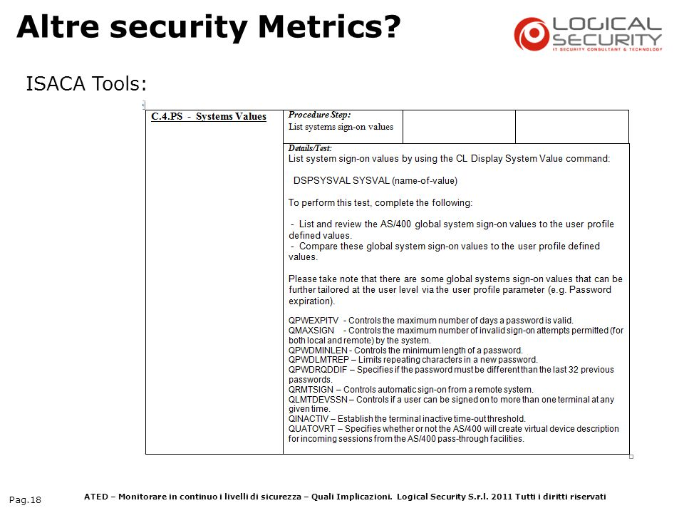 Altre security Metrics