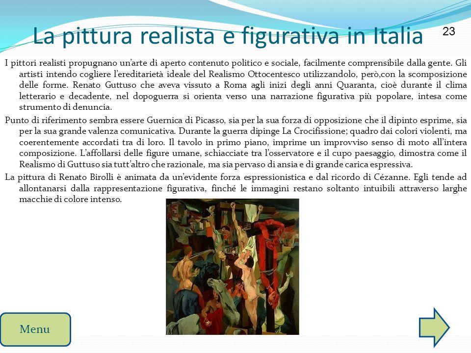 La pittura realista e figurativa in Italia