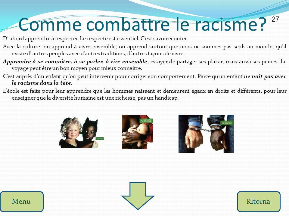 Comme combattre le racisme